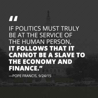 Some strong words from Pope Francis today on our political…